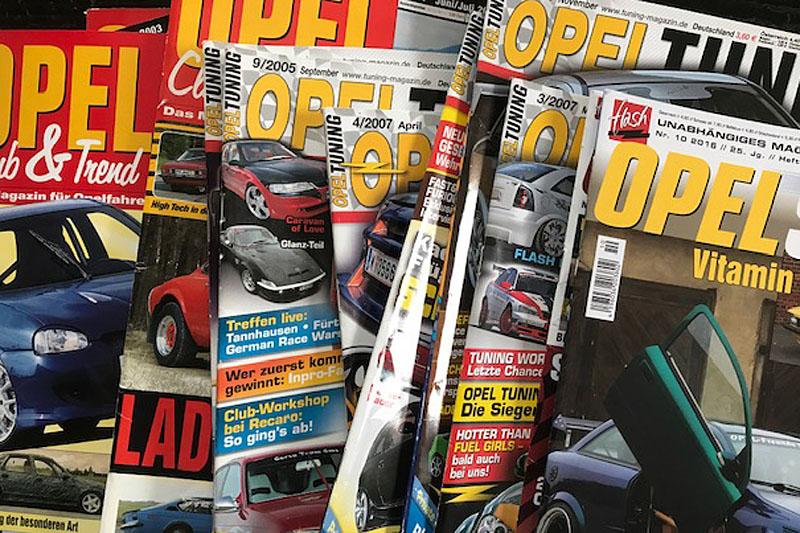 Doppelte Opel Magazine